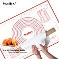 WALFOS 40*60 cm de Gran tamaño de la estera para hornear de silicona, adjuntar pasta de amasamiento de la escala, alfombra antideslizante, de Silicona para hornear estera pastel de rodadura