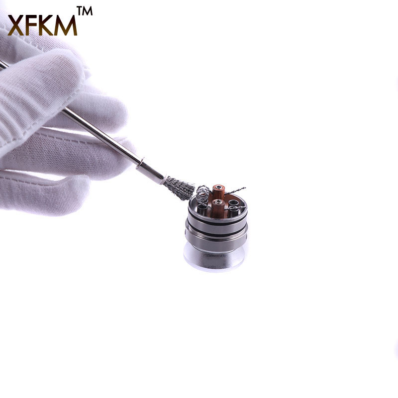 NEW XFKM lectronic cigarettes heat wire cleaning brush Coil Brusher -Coil Wires Cleaner for Electronic Cigarette RDA RDTA RTA