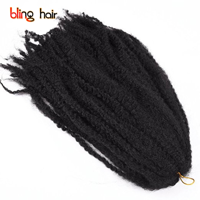 Bling Hair 16'' Afro Kanekalon Twst Crochet Braids Hair Products Synthetic Marley 16inch Braiding Hair Extensions