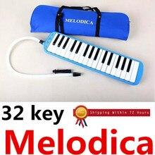 32 Schlüssel Melodica Klavier Stil Mundharmonika + Oxford Tasche Geschenk Liebhaber Spielzeug Musikinstrument spielen melodica schwarzen Studenten Lehrer