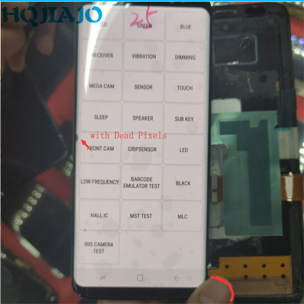 Super AMOLED LCD For <font><b>Samsung</b></font> <font><b>Galaxy</b></font> <font><b>S8</b></font> G950 G950F LCD <font><b>Display</b></font> Touch Screen Digitizer Dead Pixels on the edge no <font><b>Frame</b></font> image