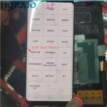 Super amoled LCD do samsunga Galaxy S8 G950 G950F wyświetlacz LCD z ekranem dotykowym Digitizer martwe piksele na krawędzi bez ramki