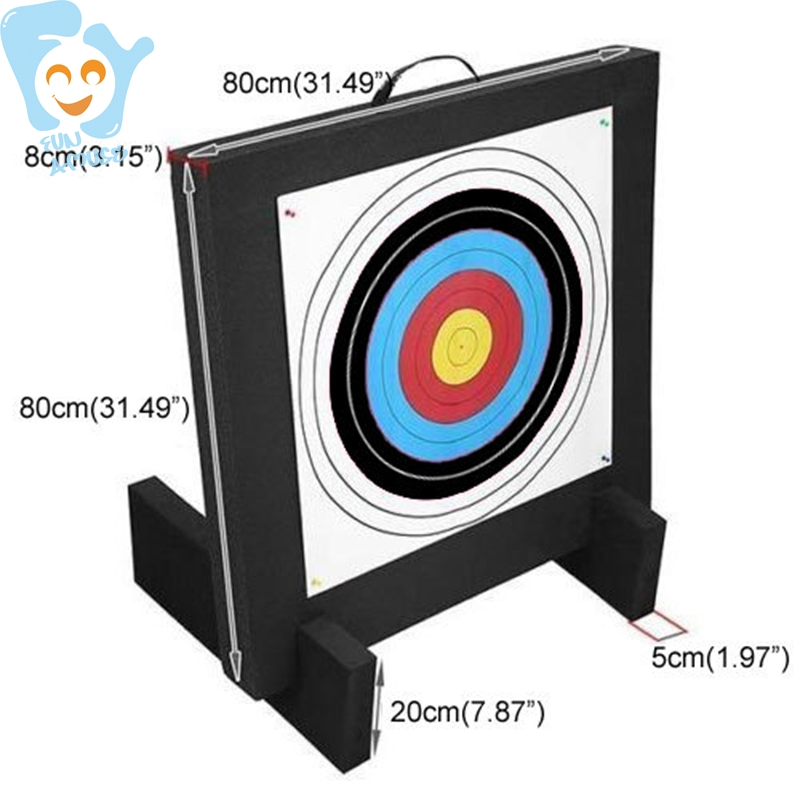 EVA Foam Target With Handle Archery Tag Shooting Equipment Outdoor Fun Sports Game