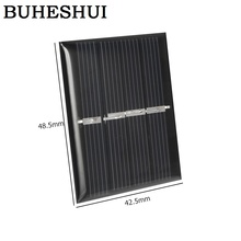 BUHESHUI Wholesale 240pcs Mini 0.36W 2V Solar Cell Polycrystalline DIY Solar Panel System Charger Epoxy 42.5*48.5MM FreeShipping