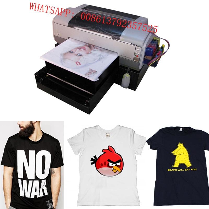 2017 new white ink printing t shirt printer low price for T shirt printing price