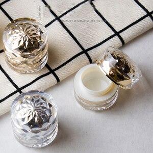 Image 1 - 1 stücke 7g acryl creme box Doppel emulsion flasche Hohe ende essenz probe box (mit innen abdeckung) unter abfüllung großhandel BQ234