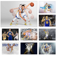 Stephen Curry Basketball Star Art Coated paper Painting Home Room Decor High Quailty printing Wallpaper Modern Decoration