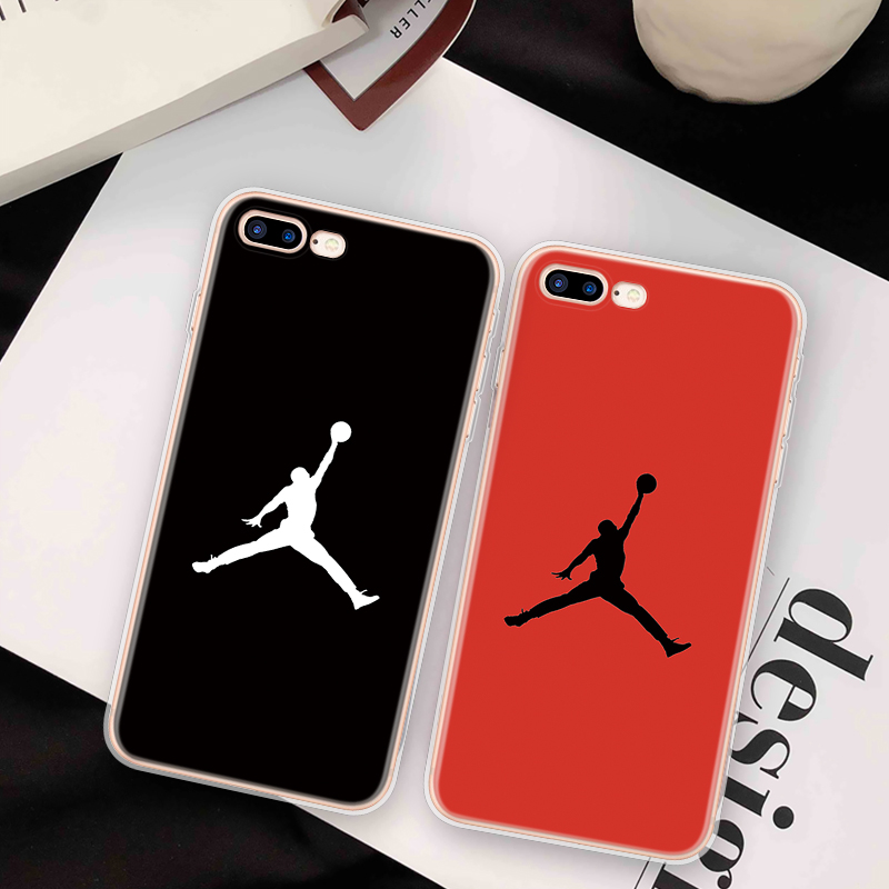Cool JORDAN For iphone 7 Phone Case for Funda iphone 6 6S 7 8 Plus Soft TPU Cover FOR iphone 10