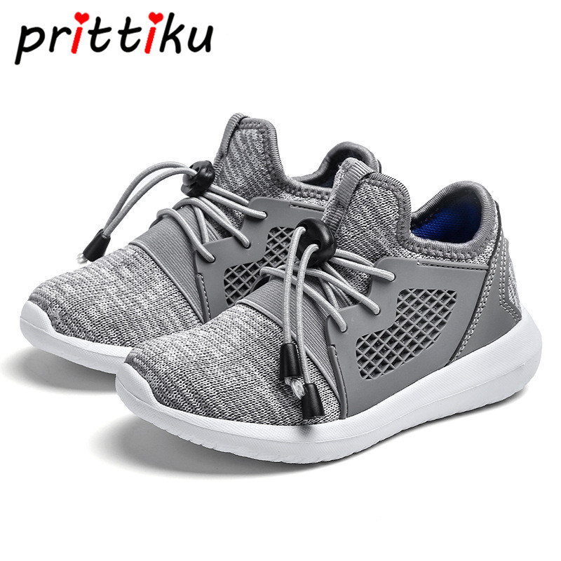 Spring 2018 Toddler Boy Girl Knit Mesh Sneakers Little Kid Casual Sport School Trainers Children Brand Fashion Lightweight Shoes