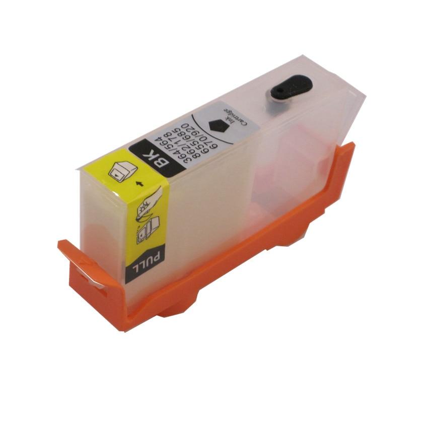 BLOOM Compatible 655BK 655 Refillable Ink Cartridge With Chip FOR HP Deskjet Ink Advantage 3525 4615 4625 5525 6525 Printer