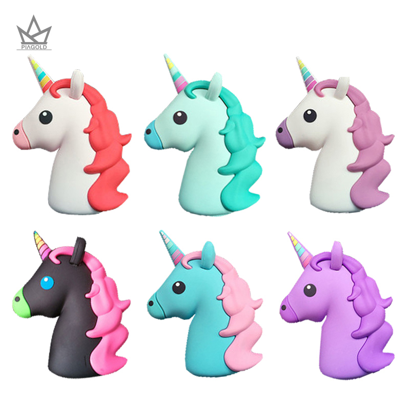 PIAGOLD Portable Power Bank 8000mAh Universal Unicorn Mini Cute PowerBank 18650 Battery Charger Cargador Portati For
