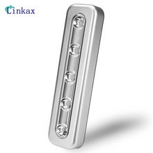 5 LED Night Light ภายใต้ตู้ตู้เสื้อผ้าตู้เสื้อผ้าห้องครัว Push Touch Tap Night Light Stick On Power