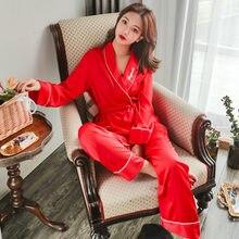 511ee4b030 2019 primavera estate nuovi pigiami del raso delle donne di ghiaccio di  seta del ricamo verde