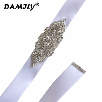 Women Wedding Belts Handmade Rhinestones Bridal Sash Evening Party Dress Belt Luxury Wedding Sashes Brand Waistband Cummerbunds