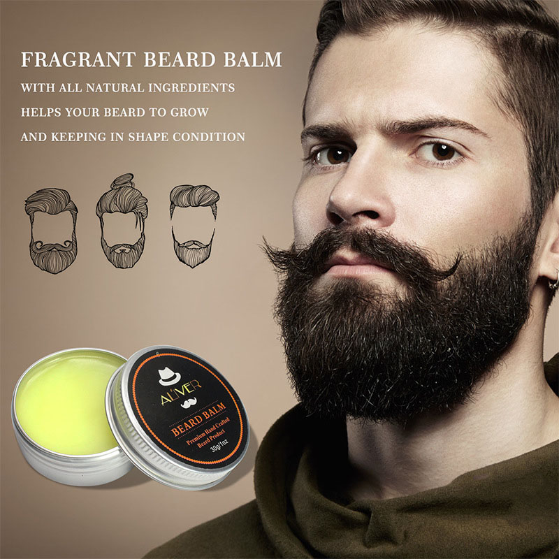 Beard Balm Natural Oil Conditioner Beard Care Moustache Wax Men Moustache Grooming WH998 5