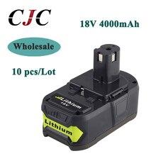 Wholesale 10x High Capacity P108 18V 4000mAh Li Ion For Ryobi RB18L40 P300 P400 Rechargeable Power