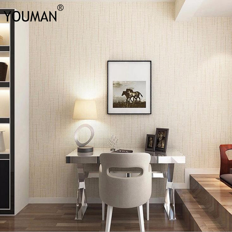 Us 36 77 8 Off Modern Linen Grasscloth Wallpaper Designs Beige Brown Pvc Fiber Flax 3d Textured Solid Color Wall Papers For Living Room Walls In
