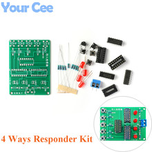 4 Ways Responder Kit 4 People Answering Welding Kit Diy Practice Board PCB Funny Electroni