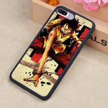 One Piece Luffy Anime Printed Soft TPU Skin Cell Phone Cases For iPhone 6 6S Plus 7 7 Plus 5 5S 5C SE 4 4S Back Cover Shell