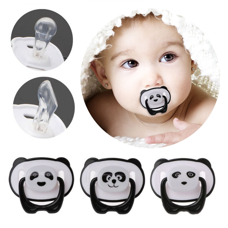 2018 New Panda Newborn Baby Silicone Soother Dummy Pacifier Infant Nipple With Cover