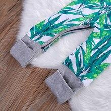 Bamboo Print Long Sleeve Babies Romper
