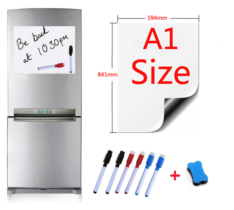A1 Size 594x841mm Magnetic Whiteboard Fridge Magnets Marker Home Kitchen Message Writing Sticker Boards Magnets 1