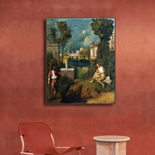 Storm Giorgione Famous Prints Art Canvas Painting Calligraphy Decoration Picture For House Living Room Bedroom Home Wall Art mravik laszlo giorgione