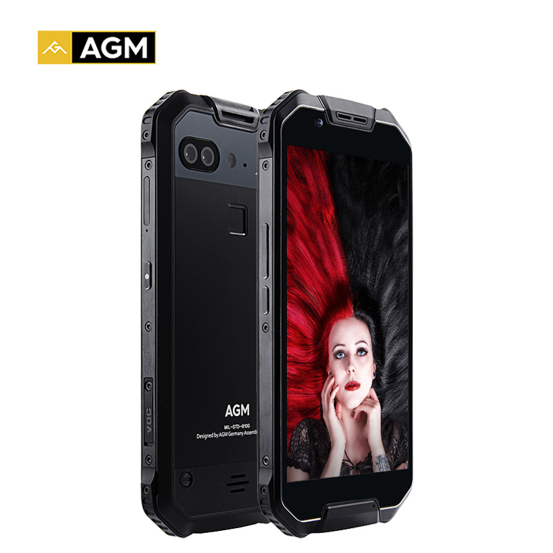 Original AGM X2 4G LTE Waterproof Shockproof Phone Octa Core 6GB+128GB Smartphone 5.5 Inch Android 7.1 NFC Mobile Phone 6000mAh