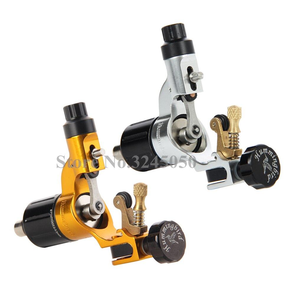 Originele 2 stuks Hummingbird V2 Zwitserse Motor Rotary Tattoo Machines Zilver & Goud Gratis Een Stuk RCA Cord Voor Tattoo supply op AliExpress - 11.11_Dubbel 11Vrijgezellendag 1