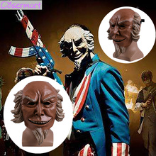 Cos The Purge 3 Mask Cosplay Caleb Warren Old Man Mask Hard Resin Election Year Mask Helmet New Halloween Party