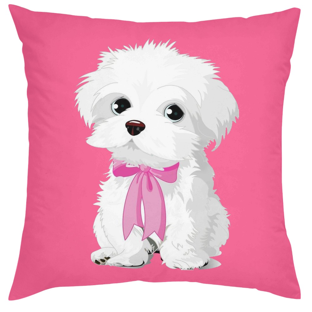 chair covers malta handicap lifts new design face pillow cover cute maltese dog gift puppy pet seat 18 inch