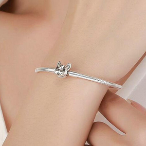Image 5 - 100% 925 Sterling Silver Dog Head Clasp Charm Bracelet Hot Sale Innovative Lovely Fashion Jewelry Gift For Women Girlfriend