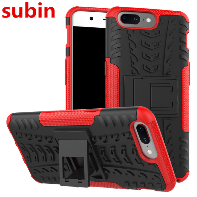 OnePlus 5 A5000 Case TPU & PC Dual Armor Capa with Stand Hard Silicone Cover For OnePlus5 one plus 5 Phone Case