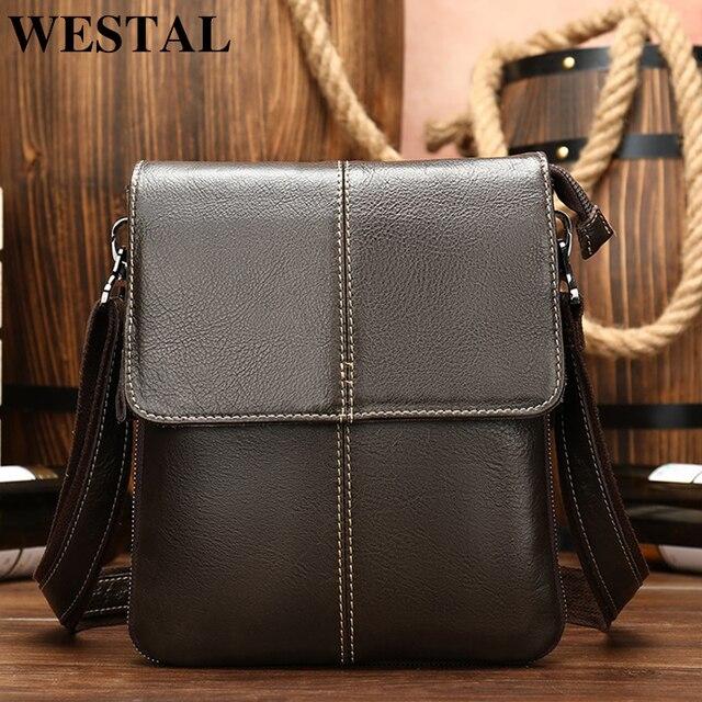 """Men/'s 100/% Genuine Leather Shoulder Bag Crocodile Crossbody Bag 8/"""" Messenger Bag"""