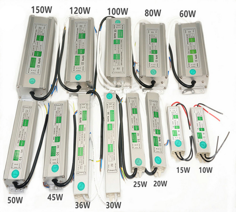Waterproof power supply dc24v led driver 10W 15W 20W 25W 30W 36W 50W 60W 100W 120W 300W transformer 220v to 12v driver for leds image