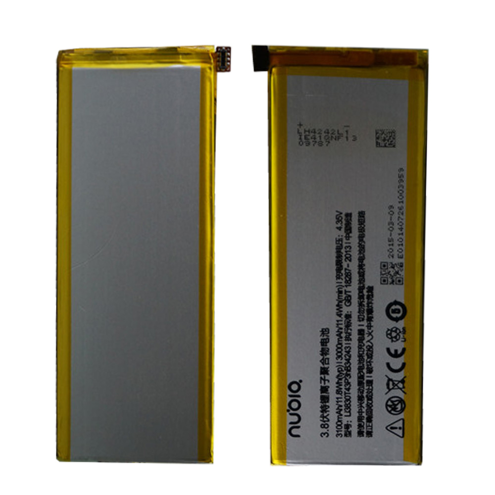 100% copia de seguridad Original para ZTE Nubia Z7 MAX LI3830T43P3HB34243 batería de 3100mAH para ZTE Nubia Z7 MAX NX505J teléfono inteligente teléfono