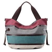 New Women Shoulder Bag Fashion Female Messenger Bags Ladies Crossbody Bag Handbags Casual Totes Canvas Patchwork Bolsa Feminina