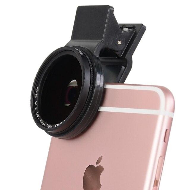 ZOMEI 37 мм Клип Мобильный Телефон len Круговой Поляризационный CPL Фильтр для iPhone 6/5 iPad для Huawei Mate Samsung т. д.