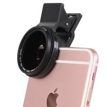 ZOMEI 37mm len Teléfono Móvil Clip CPL Circular Polarizador Filtro para iPhone 6/5 iPad para el Mate Huawei Samsung ect