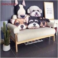 38x48 см новый товар большой Размеры 3D милая собака голову Подушки творческий мультфильм диван офис сон Подушки Детские parsonaltiy автомобиля сид...
