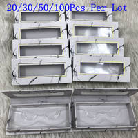 Mikiwi Wholesale Square False Eyelash Packaging Box Custom your Logo Fake 3d Mink eyelashes Boxes Cils lash strip Case Empty box