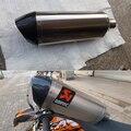 Clássico motocicleta escape escape do motor de carbono tamanho personalizado