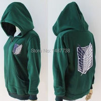 New Anime Attack On Titan Cosplay Costumes Hoodie Green Black Scouting Legion Hooded Sweater For Unisex