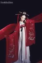 2019 women chinese hanfu dress china ancient costume traditional female modern girl tang suit embroidery