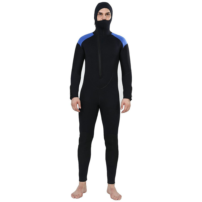 Realon Spearfishing 5MM Neoprene Wetsuit Men with Hoodies Scuba - Sportswear and Accessories - Photo 1