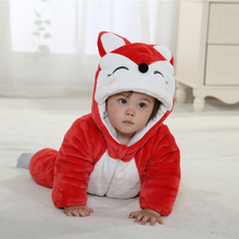 Thermal cartoon character clothes romper for baby kid winter wear