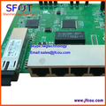PCB board, PD with 4 ethernet ports, reverse POE optical network EPON ONU, 4 ports PCB board