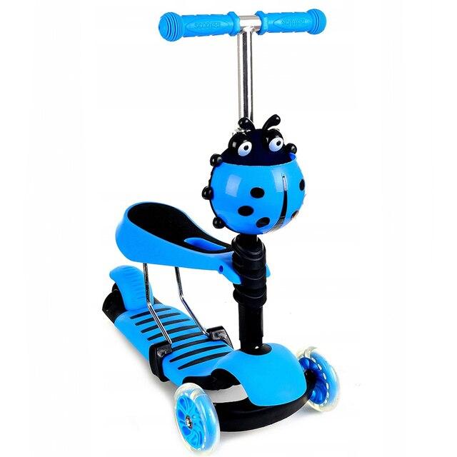 Игрушка детская Самокат 3-х колесный (синий)