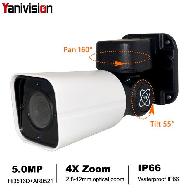 POE Outdoor PTZ Bullet IP Camera 1080P 5MP Full HD 4X Optical Zoom IP66 Waterproof 50m IR Night Vision CCTV Security Camera P2P