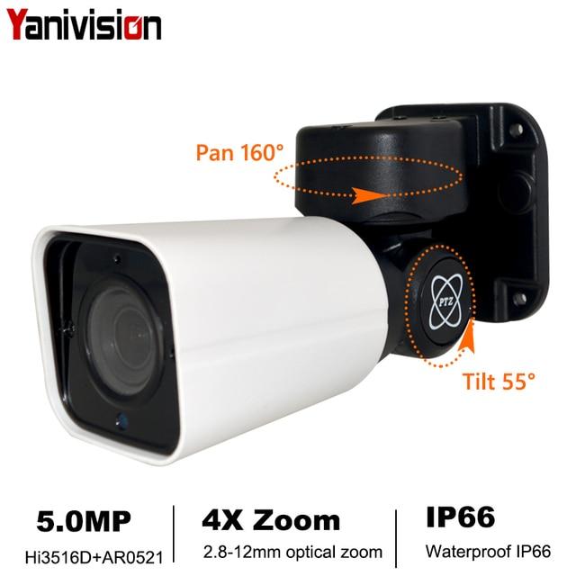 Poe câmera externa de vigilância externa, ptz ip 1080p 5mp full hd 4x zoom óptico ip66 à prova d água 50m ir noite câmera de segurança cctv p2p, visão